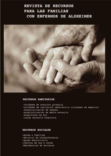 revista de recursos sanitarios y sociales para los familiares de enfermos de alzheimer.