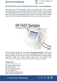 GP FAST Diode Laser Portable Machine In India - Concord Medisys