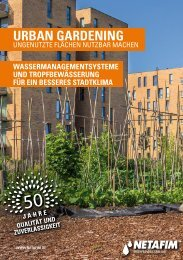 "NETAFIM Urban Gardening für ""SMART GREEN CITIES"""