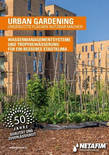 "NETAFIM Urban Gardening für ""SMART GREEN CITIES"""