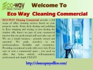 Office cleaning agency new jersey | ECO-WAY Cleaning Commercial
