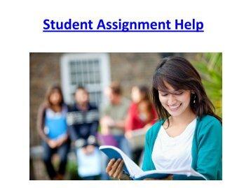 Student Assignment Help Online