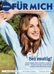 NIVEA FÜR MICH Magazin – Frühling 2017