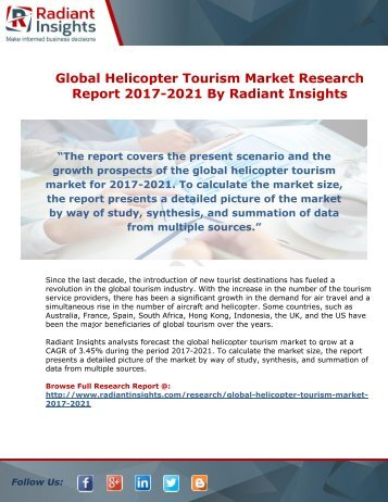 Global Helicopter Tourism Market Research Report 2017-2021