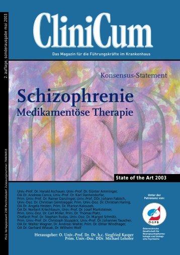 Schizophrenie Medikamentöse Therapie - Medizin Akademie