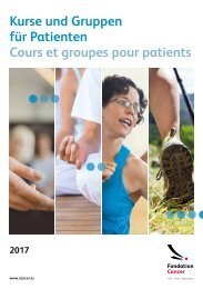 Groupes et cours pour patients