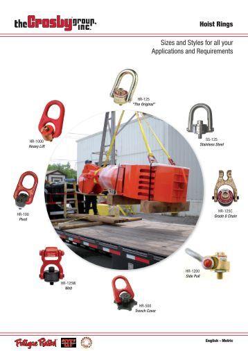 Heavy Lift Swivel Hoist Rings - The Crosby Group