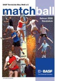 Matchball 2008, Nachlese hier downloaden - BASF.com