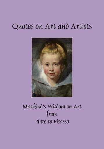 Quotes on Art and Artists-new - Richer Resources Publications