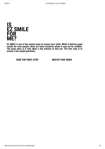 IS ez smile for me