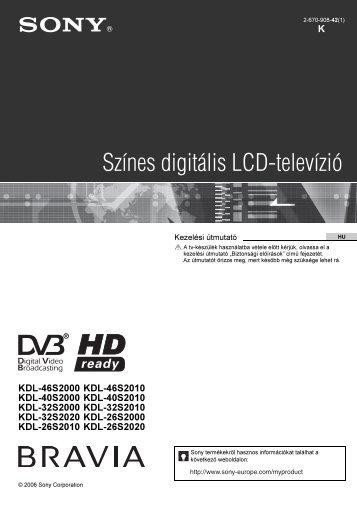 Sony KDL-26S2000 - KDL-26S2000 Consignes d'utilisation Hongrois