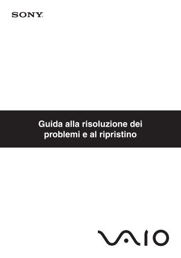 Sony VGX-TP3Z - VGX-TP3Z Guide de dépannage Italien