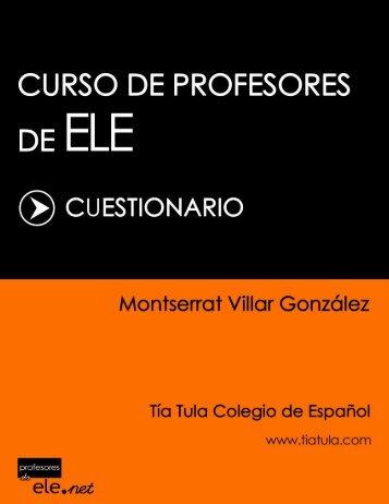 Curso de Profesores de ELE - Cuestionario