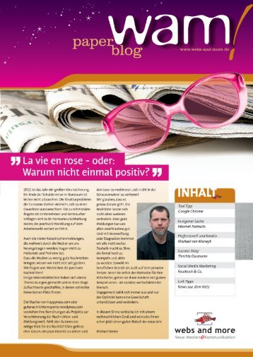 wam paper blog 2011 - webs and more