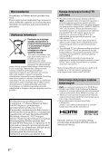 Sony KDL-52X3500 - KDL-52X3500 Mode d'emploi Polonais - Page 2
