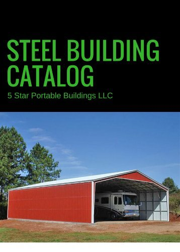 Steel Building Catalog 2017