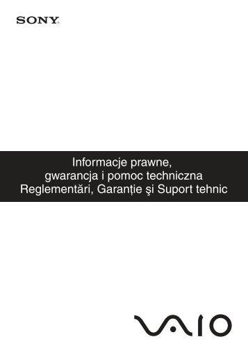 Sony VPCS11M1E - VPCS11M1E Documents de garantie Polonais