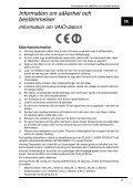 Sony VPCS11M1E - VPCS11M1E Documents de garantie Suédois - Page 5