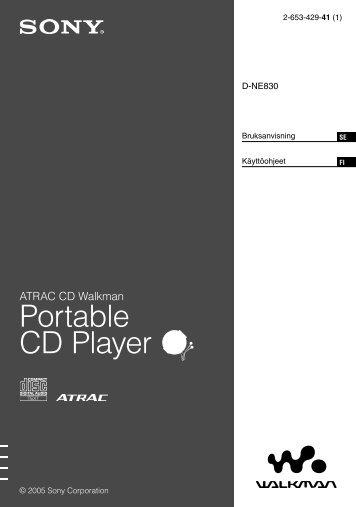 Sony D-NE830 - D-NE830 Consignes d'utilisation Finlandais