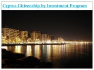 Cyprus Citizenship by Investment Program