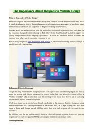 The Importance About Responsive Website Design