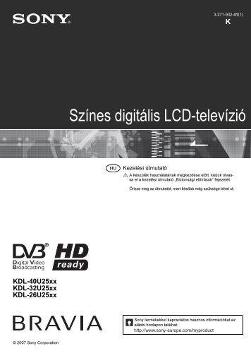 Sony KDL-40U2530 - KDL-40U2530 Mode d'emploi Hongrois