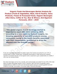 Organic Foods and Beverages Market Growth, Analysis and Forecast Report To 2014 - 2025