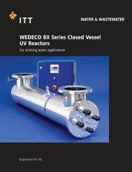 WEDECO BX Series Closed Vessel UV Reactors