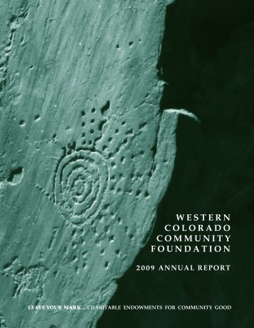 western colorado community foundation 2009 annual report