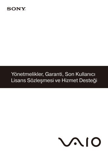 Sony VGN-CS31SR - VGN-CS31SR Documents de garantie Turc