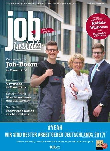 jobinsider Osnabrück // Ausgabe No. 1 // Juni 2017
