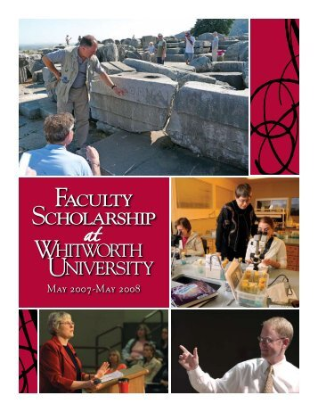 Whitworth Faculty Scholarship 2007-08 - Whitworth University