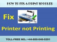 How to fix a print spooler| Brother Printer Help +44 800-046-5291