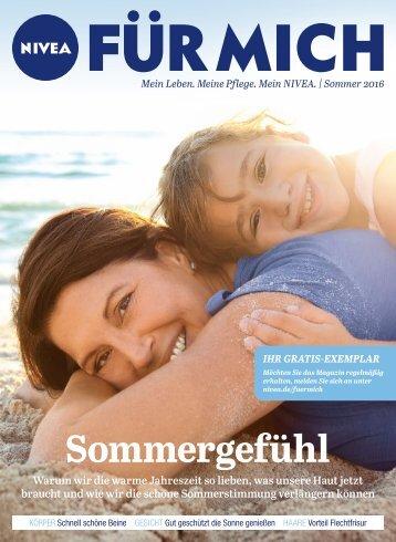 NIVEA FÜR MICH Magazin – Sommer 2016