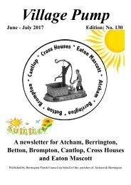 Berrington Village Pump Edition 130 (Jun - Jul 2017) Final Copy