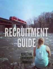 Carleton Sororities Recruitment Guide 2017