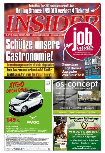 INSIDER Osnabrück // Juni 2017 // No. 407