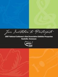 Your Invitation to Participate - National Cattlemen's Beef Association