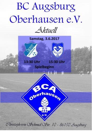 Heimspiel BCA vs. TSV Königsbrunn II und TSV Kriegshaber II