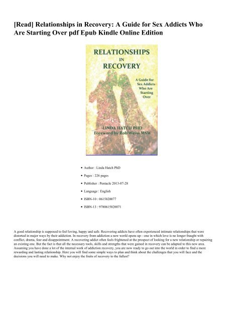 Relationships with recovering addicts