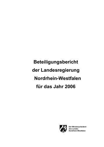 Entwurf Bericht 2006 - Finanzministerium NRW - Landesregierung ...