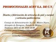 Catálogo Oficina Acry