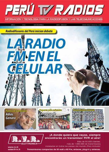 Revista PERU TV RADIOS Edicion MAY-JUN