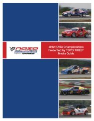 2012 NASA Championships Presented by TOYO TIRES® Media ...