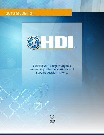 2013 Media Kit - HDI