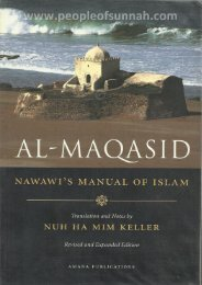 Al-Maqasid - Imam Nawawi (Manual of Islam) in English