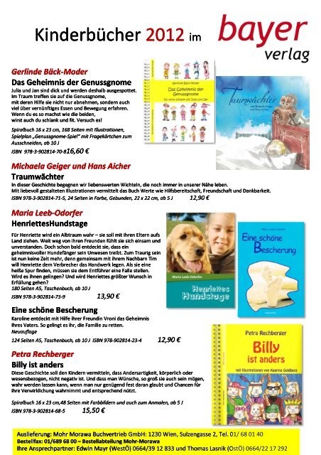 Vorschau 2012 - Bayer Verlag