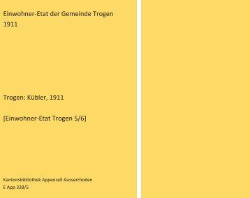 Einwohner-Etat 1911 [5/6]