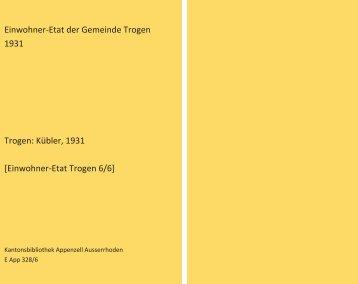 Einwohner-Etat 1931 [6/6]