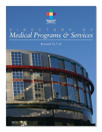 Medical Programs & Services - Connecticut Children's Medical Center